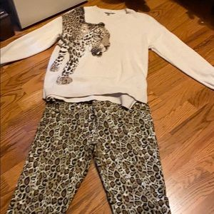 Ladies sweater and jeans